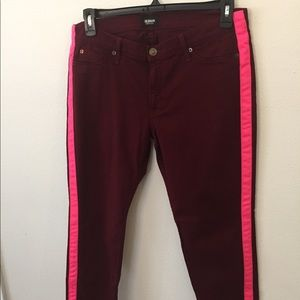 53b9849949e Hudson Jeans · Hudson Loulou ankle cropped tuxedo pink striped
